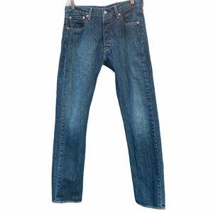 LEVI'S 501 Original Fit Blue Button Denim Jeans